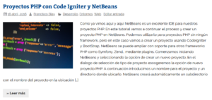 Proyectos PHP con Code Igniter y NetBeans