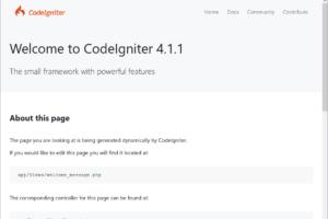 Aplicación CodeIgniter