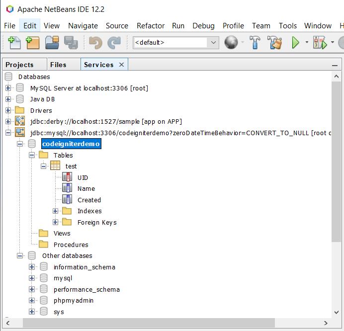 Gestión de bases de datos en NetBeans
